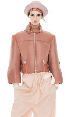 Acne Studios Miya Nude leather jacket