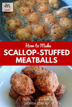 In case you missed it, here's the full recipe and replay to Jackie M's LIVE Asian Kitchen broadcast on How to Make Scallop-stuffed Meatballs. How To Make Scallops, Malaysian Food, Malaysian Recipes, Stuffed Meatballs, Asian Kitchen, Meatball Recipes, Learn To Cook, Seafood, Replay
