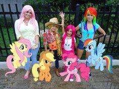 My little pony costume. Fluttershy, Applejack, Pinkie Pie & Rainbow dash Mlp cosplay