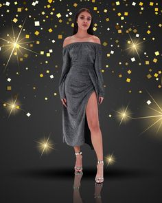 Fii strălucitoare în noaptea dintre ani cu o rochie glamour plină de eleganță! 😍  #DressForTheLifeYouWant #DressForTheWinterYouWant #Wldgiftshop #SantasDailyGift #wildfashion #fashion #style #styleinspiration #ootd #fashionstyle #fashiongram #fashioninspo #instastyle #fashiontips #trend #trendalert #likeit #instalike #love #look #lookbook #lookoftheday #instafashion Fii, Shoulder Dress, Dresses, Fashion, Vestidos, Moda, Fashion Styles, Dress, Fashion Illustrations