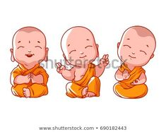 Find Set Little Meditating Monks Vector Cartoon stock images in HD and millions of other royalty-free stock photos, illustrations and vectors in the Shutterstock collection. Buddha Drawing, Buddha Painting, Baby Buddha, Little Buddha, Buddha Kunst, Buddha Art, Cartoon Cartoon, Cartoon Sketches, Anime Art Girl