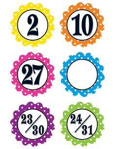 Polka Dot Flowers Calendar Days (TCR5279) « Products | Teacher Created Resources