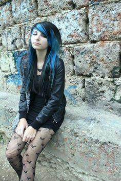 blue and black hair