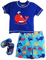 Wippette Boy's Whale Rash Flip Flop Set - Visit to see more options