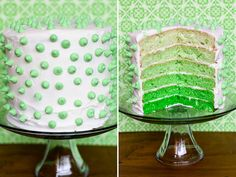 an ombre cake... or a cake with pastel different color layers