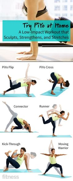 Try PiYo at Home: A Low-Impact Workout That Sculpts, Strengthens and Stretches - Why jump and pump through boot camp for a fierce physique when going low-impact in your living room will get you there? This workout, inspired by Pilates and yoga, strengthens and stretches muscles you didn't know you had.