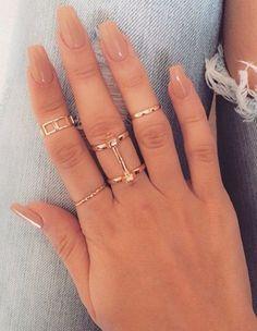 45 short coffin acrylic nail designs for this season – spring nails – short acrylic nails coffin – Hair And Nails, My Nails, Diva Nails, Uv Gel Nails, Ongles Beiges, Square Nails, Square Acrylic Nails, Nagel Gel, Acrylic Nail Designs
