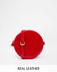 Vagabond Leather Circle Crossbody Bag
