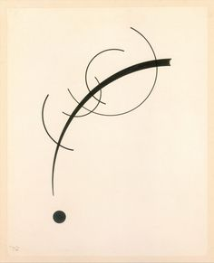 Wassily #Kandinsky - Free Curve to the #Point - Accompanying #Sound of #Geometric #Curves, 1925.