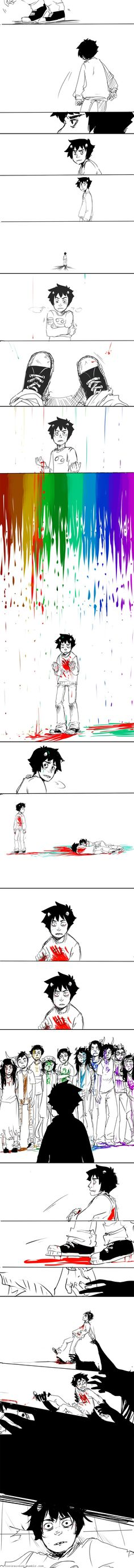 Karkat, please. Just let me give you a hug. Karkat reminds me of Nico from the Percy Jackson series, he has so many demons.