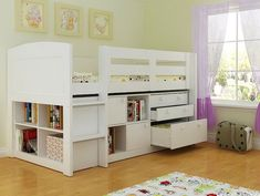 Thinking of a tall 8 year old who may need a new bed and storage!!  White Neptune Childrens Beds With Storage