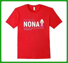 Mens Grandmother T-shirt - I'm called Nona because I am too cool  Large Red - Relatives and family shirts (*Amazon Partner-Link)