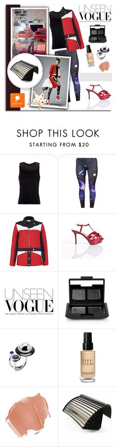 """Popmap 27"" by melissa-de-souza ❤ liked on Polyvore featuring Emporio Armani, Courrèges, Nicholas Kirkwood, NARS Cosmetics, Bobbi Brown Cosmetics, Braun and popmap"