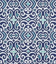 Home Decor Print Fabric-Robert Allen New Damask-Marine at Joann.com