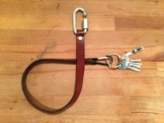 Selfmade keystrap from recycled military belt…