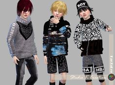 Giruto18 Loose Neck tee Child version at Studio K-Creation • Sims 4 Updates