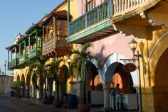 Lovely Cartagena, beautiful colonial city in Colombia