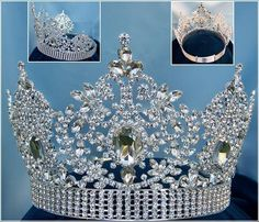 Adjustable Fairy Tale Beauty Queen Rhinestone Crown Old world elegance and sophisticate taste makes this crown perfect for brides, beauty queens, sweet 16 and homecomings. Note the large clear stones,