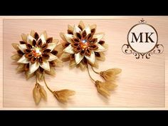 How to make a bow of ribbons. Kanzashi for beginners. - YouTube