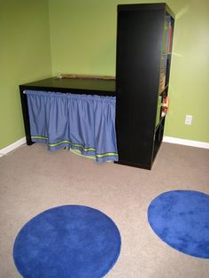 Secret Passage and Fort for Kids Using Expedit Bookcase and Desk