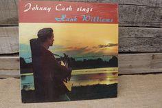 "Johnny Cash sings Hank Williams 12"" vinyl. FREE SHIPPING by theboneyardbuffalo on Etsy"