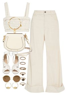 """""""Untitled #10892"""" by nikka-phillips ❤ liked on Polyvore featuring Forever 21, Topshop, Mykita, The Seafarer, Zimmermann, Chloé and Aurélie Bidermann"""