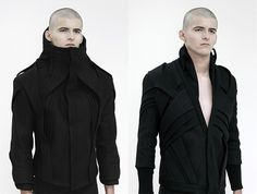 """Architectural Clothes by Mexican designer Nahum Villasana.      Colection """"Bisector Human"""""""