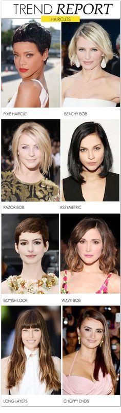 TREND-HAIRCUTS pixie haircut, beachy bob, razor bob, assymetric, wavy bob