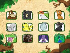 12 animals to discover from the same type of Indian forest as in the Jungle Book from Kipling (adventures of Mowgli). Curious Kids, Unique Animals, Puzzles For Kids, Forest Animals, Puzzle Pieces, Ipad Mini, Jigsaw Puzzles, Entertaining, Apps