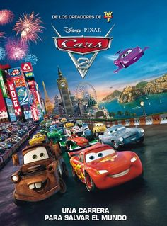 cars 2 blu ray pixar starring owen wilson larry the cable guy and michael caine star racecar lightning mcqueen and the incomparable tow truck mater take