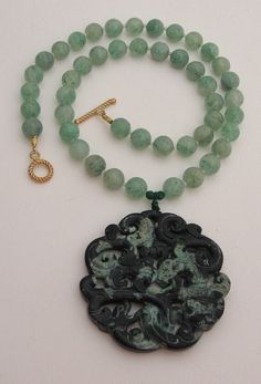 DRAGONS carved on CHINESE TURQUOISE with by MOUNTAINPOODLE on Etsy, $135.00