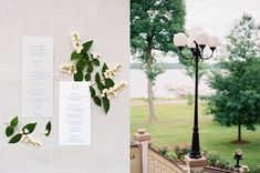 Classic ceremony programs and stationery for a lakeside wedding day | Arielle Doneson Photography