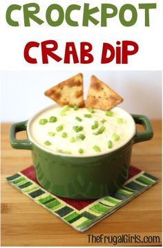 Crockpot Crab Dip Recipe from TheFrugalGirls.com