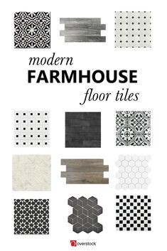Working on a home remodel or DIY? Check out this variety of modern farmhouse floor tiles to dress up your floors!