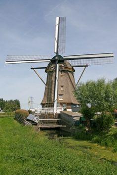 Polder Mill Broekzijdse Molen, Abcoude, the Netherlands