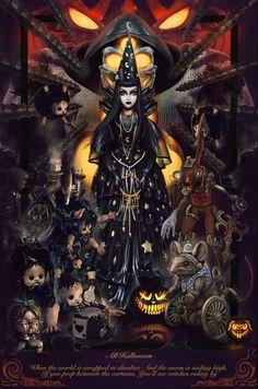 Alice Halloween, Halloween Themes, Dark Alice In Wonderland, Alice Liddell, Alice Madness Returns, Fairytale Art, Mermaid Art, Blue Art, Fairy Tales
