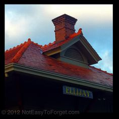 Old train depot - Ellijay, GA. Where they have the apple festival.