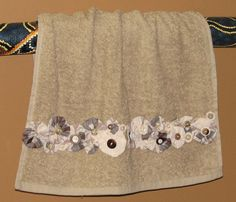 Handkerchief fabric yoyo and button hand by PumpkinandParsnip, $13.00