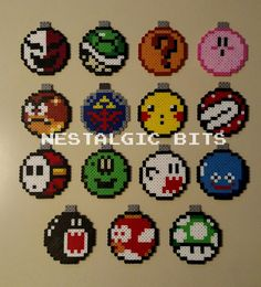 COMPLETE SET OF 15 Handmade Nintendo Christmas by NestalgicBits
