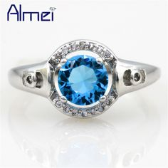 Find More Rings Information about Rings for Women CZ Diamond Ring Charms Silver Bague Sapphire Jewelry Gothic Punk Anel Feminino Fashion Jewellery Anel 2015 T3125,High Quality ring power,China ring finger Suppliers, Cheap ring bird from Almei Jewelry Store on Aliexpress.com
