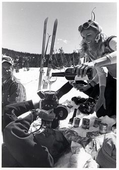 Skiing in the good ol'days at Vail c. 1970