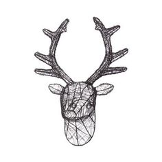 Home Collection - Black wire stag head  £50.00