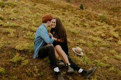 Kananaskis Engagement Photos on a hike during the summer near Banff Banff, Engagement Photos, Hiking, Celebrities, Summer, Beautiful, Walks, Celebs, Summer Time