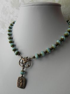 Prayer of St Francis Rosary Style Necklace in by FaithBeads, $58.00
