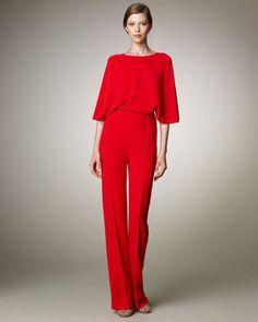 Valentino Cross-Back Cady Jumpsuit - ShopStyle Pants 7e2873a8c