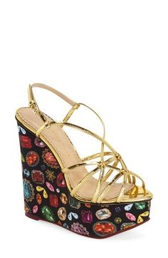 Charlotte Olympia 'Elizabeth' Platform Wedge (Women) available at #Nordstrom