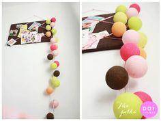 cotton ball lights for kids' room