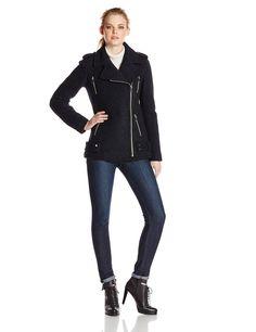 ca3eec18b174 Amazon.com  French Connection Women s Wool Boucle Moto Jacket
