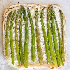Asparagus and ricotta tart is flaky, fresh and perfect spring, like ...