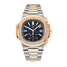 Patek Philippe Nautilus Stainless Steel & Rose Gold Watch...